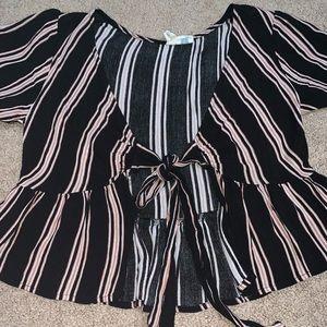 Tilly's striped tie flowy top